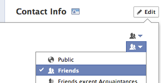 Hide Contact Information on Facebook