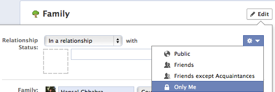 Hide Family & Relationship Status on Facebook