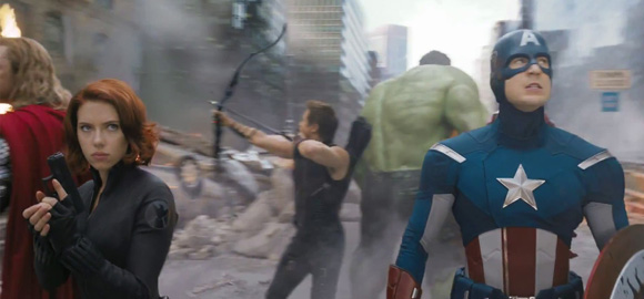 the Avengers Fight Scene